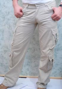 Фото Брюки, бриджи, шорты, лён Модель: W-009