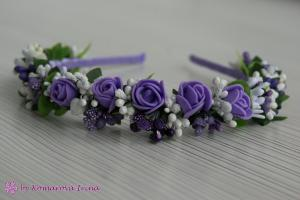 Фото Ободки с цветами Нежный ободочек с сиреневыми розочками