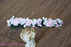 Фото Ободки с цветами Нежный ободочек с розовыми розочками
