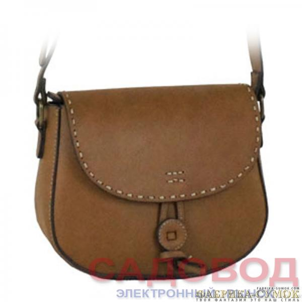 Женская сумка арт. 823-3846-2-BRW Дорожные сумки и чемоданы на рынке Садовод