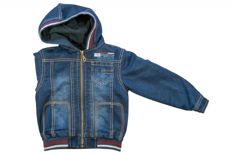 Куртки джинсовые на флисе для мальчиков 6942B 6942B