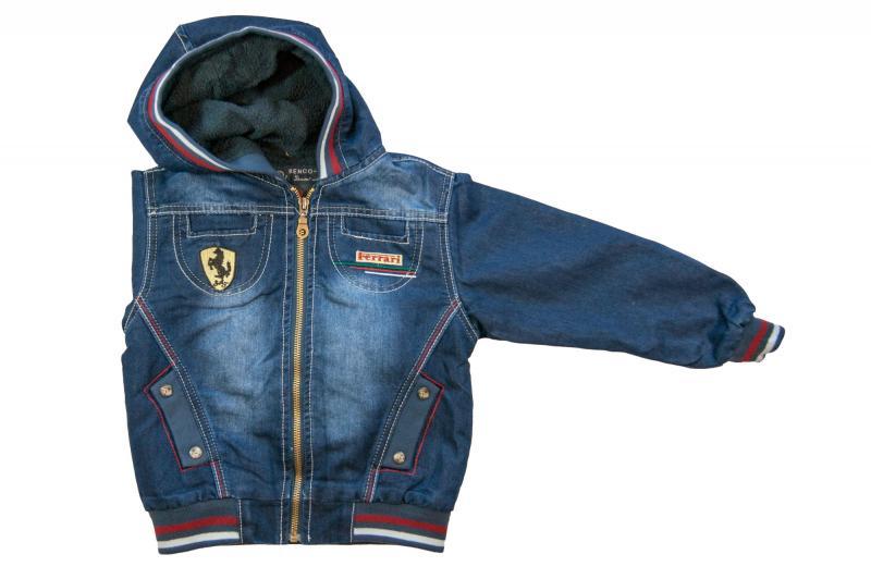 Куртки джинсовые на флисе для мальчиков 6946B 6946B