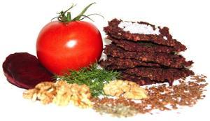 Фото Хлебцы, Хлебцы с солью Хлебцы овощные с грецким орехом и базиликом