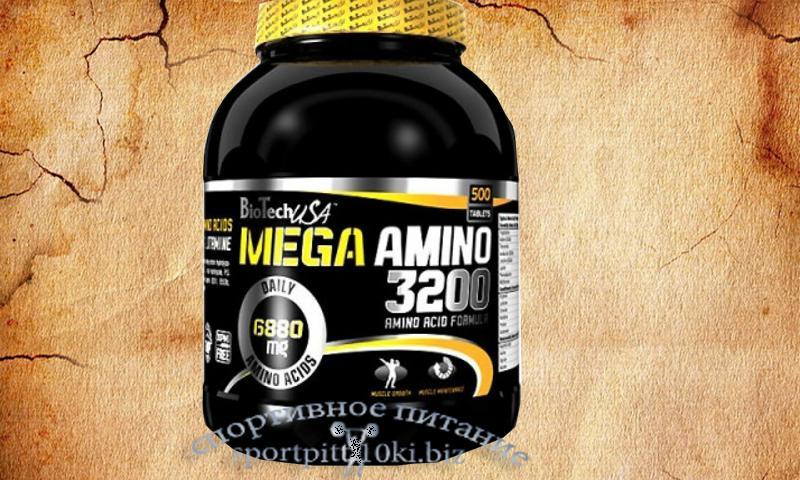 Mega Amino 3200  500 tablets