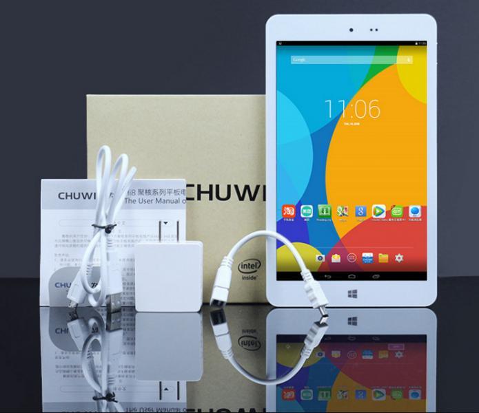 "Chuwi Hi8 двойной загрузки Win10 + андроид 4.4 8 "" таблетки Intel Z3736F четырехъядерных процессоров 2.16 ГГц IPS экран с 2 ГБ оперативной памяти 32 ГБ ROM планшет шт"