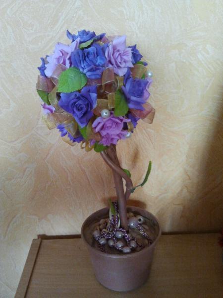"""Топиарий """"Синие розы"""""""