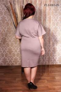 Фото Украина Трикотажное платье с цельнокроеным рукавом