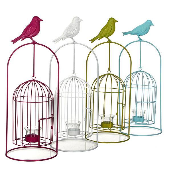 Набор декора для сада Подсвечник-клетка для птиц, 4 шт