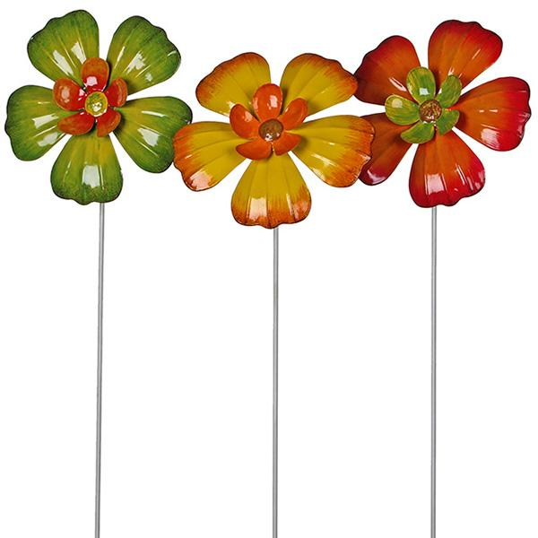 Набор декора для сада Цветы, 3 шт. 176237