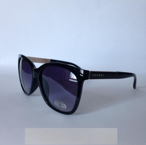 0002  Женские солнцезащитные очки Chanel  черные