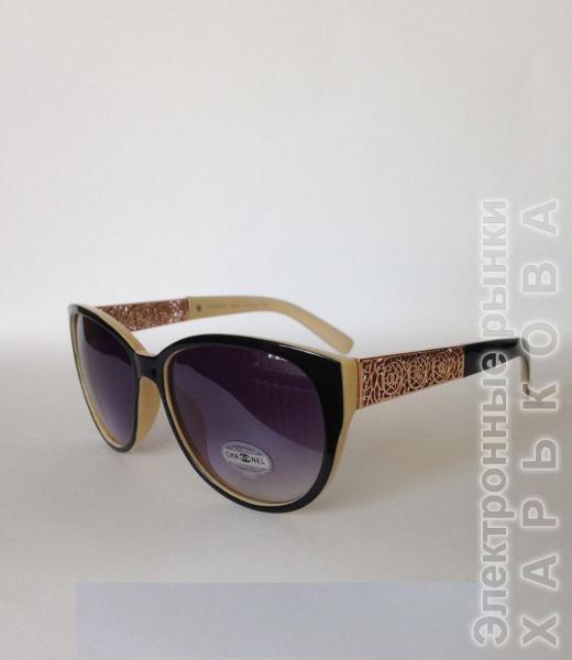 0003  Женские солнцезащитные очки Chanel  черные - Сток аксессуаров на рынке Барабашова