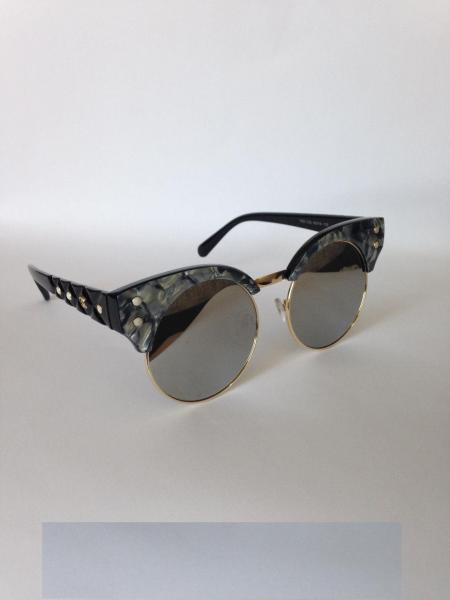 0005  Женские солнцезащитные очки Chanel  зеркальные