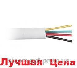Телефонный  кабель  CCS (длина 100м., 26AWG, 4 жилы), белый