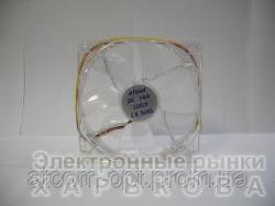 Кулер корпусной ATcool 12025 LED green, 3pin,  размер 120*120*25мм., картонная упаковка - Аудио-видео кабели, переходники, разъемы на рынке Барабашова