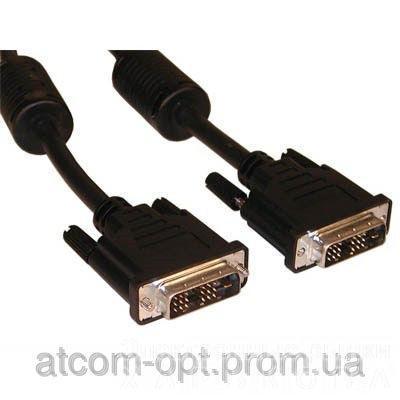 Кабель Dvi-Dvi (2 ferite, DVI-D) пакет, длина 5 м., чёрный - Аудио-видео кабели, переходники, разъемы на рынке Барабашова