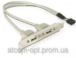 Планка расширения USB 2.0 , на  заднюю панель,  2 порта