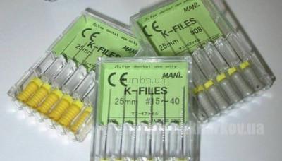 Фото Для стоматологических клиник, Эндоинструменты Mani K-Files