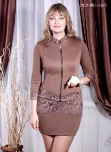 Фото Россия Женский костюм платье+жакет