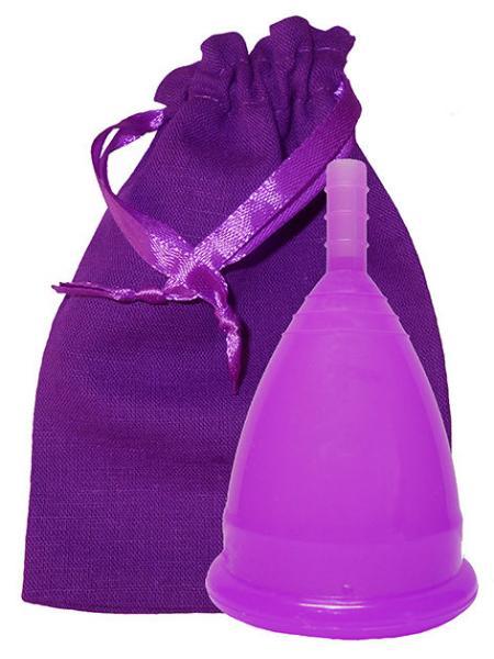Менструальная чаша фиолетовая + мешочек!