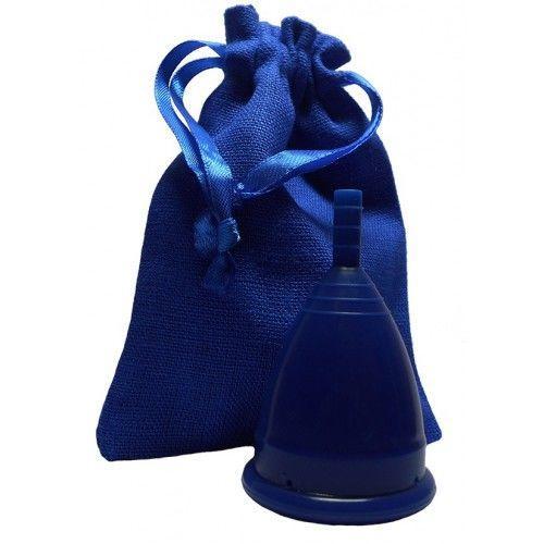 Менструальная чаша синяя + мешочек!
