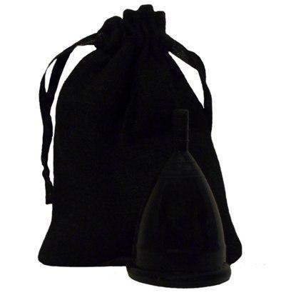 Менструальная чаша черная + мешочек!