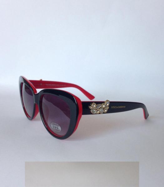 0014  Женские солнцезащитные очки DOLCE&GABBANA с камнями