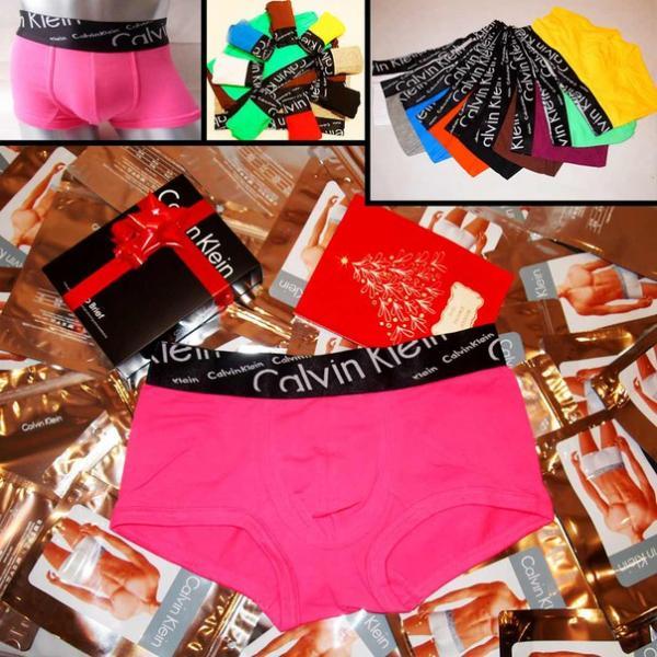 Трусы Calvin Klein Italics black боксёры розового цвета