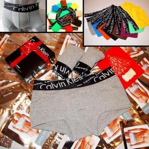 Фото Трусы Calvin Klein Italics Трусы Calvin Klein Italics black боксёры серого цвета