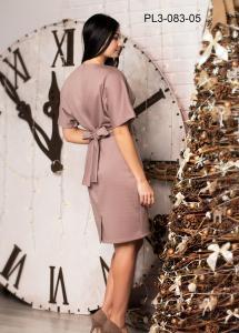 Фото Россия Женское трикотажное платье с цельнокроеным рукавом