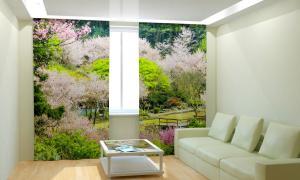 Фото 3D фотошторы, Для комнаты, Природа Чудесный парк