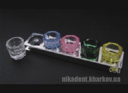Фото Для стоматологических клиник, Аксессуары Подставка металлическая для склянок ( на 5шт)