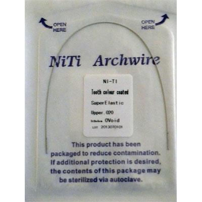 Дуги NiTi квадратные верх белые (1шт)