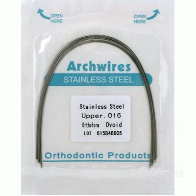 Фото Для стоматологических клиник, Ортодонтия, Брекет-системы Дуги Steel квадратные верх (10шт)