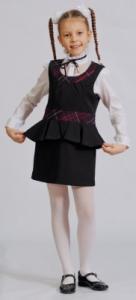 Фото Школьная форма, Школьная одежда для девочек, Младшая школьная группа Сарафан Модель 0М055