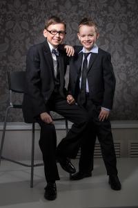 Фото Школьная форма, Школьная одежда для мальчиков, Старшая школьная группа Костюм для мальчиков Модель 9S64 VIP