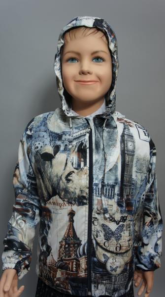 """Куртка (ветровка) для мальчика """"Города"""" 7716"""