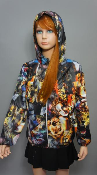"""Куртка для девочки Модель """"Совы-лица"""" спорт"""