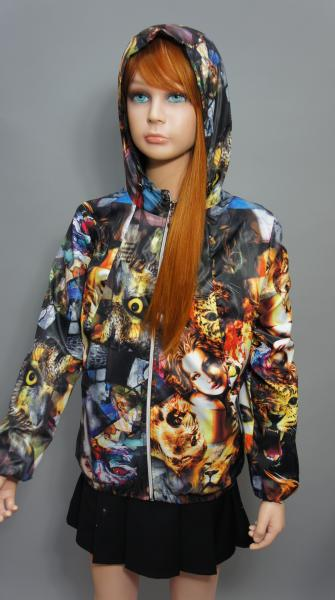 """Куртка для девочки Модель """"Совы-лица"""""""
