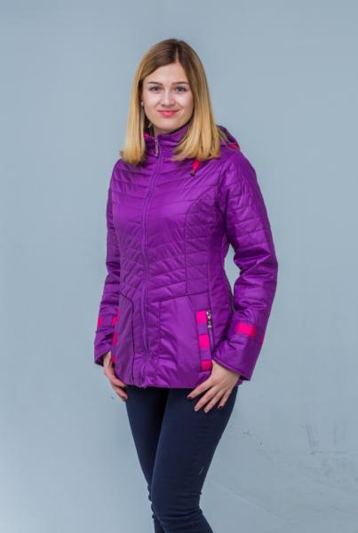 """Куртка для девочки """"Штрихи"""" Модель 5816"""