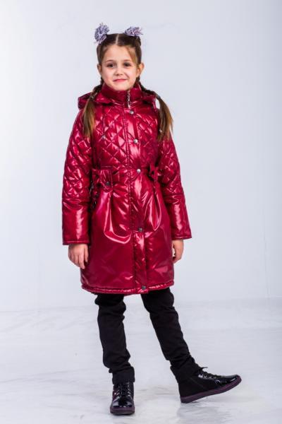 """Пальто для девочки Модель """"Бантики"""" 5215"""