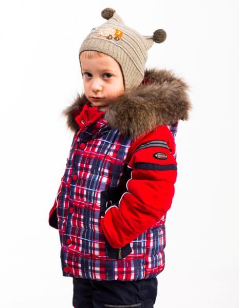 """Зимний комплект для мальчика Модель 0114 """"Шотландец"""""""
