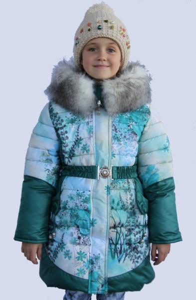 """Пальто для девочки Модель 4314 """"Снежок"""""""