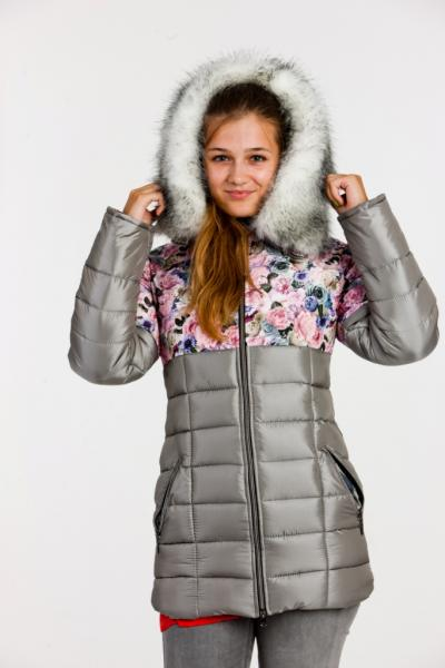 "Пальто для девочки Модель 3013 ""Розалина"""
