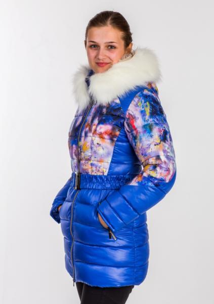 """Пальто для девочки Модель 2414 """"Пикассо"""""""