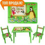 Фото Детская мебель Столик со стульчиками М0295 Маша и Медведь