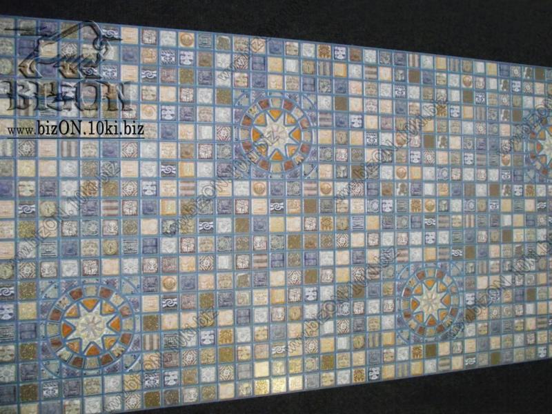 Фото Листовые панели ПВХ Мозаика «МЕДАЛЬОН СИНИЙ»   Листовые панели ПВХ