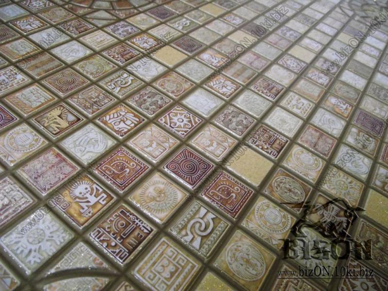 Мозаика «МЕДАЛЬОН КОРИЧНЕВЫЙ»   Листовые панели ПВХ