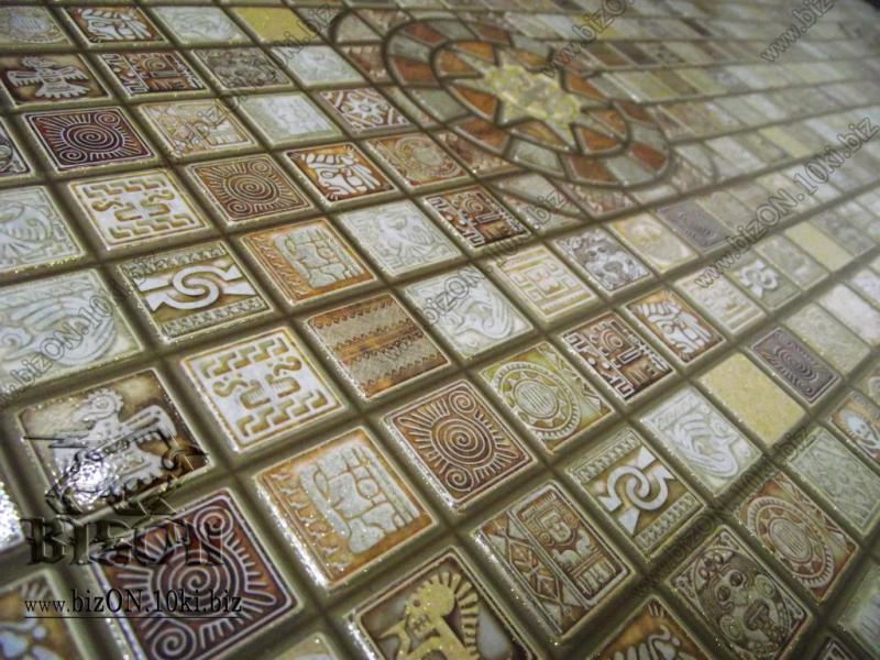 Фото Листовые панели ПВХ Мозаика «МЕДАЛЬОН КОРИЧНЕВЫЙ»   Листовые панели ПВХ