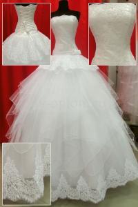 Фото СВАДЕБНЫЕ ПЛАТЬЯ, Романтический стиль Свадебное платье АЙВОРИ (240)
