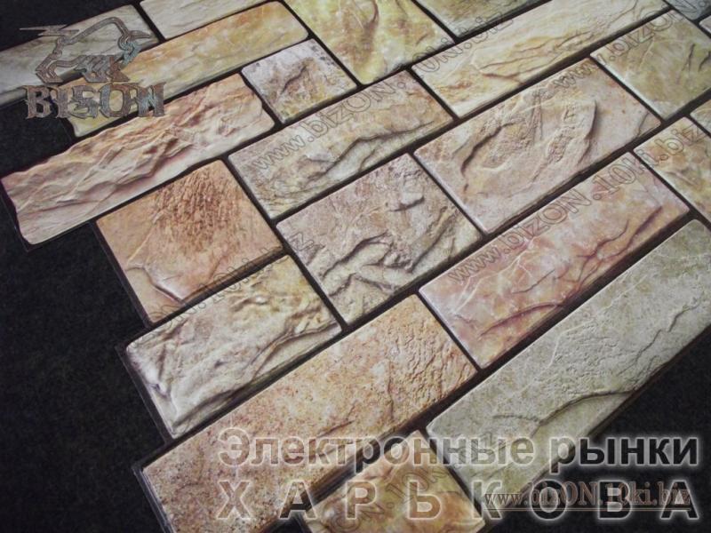 Камень «ПИЛЕНЫЙ НАСТОЯЩИЙ ЖЕЛТЫЙ»   Листовые панели ПВХ - Декор для стен на рынке Барабашова